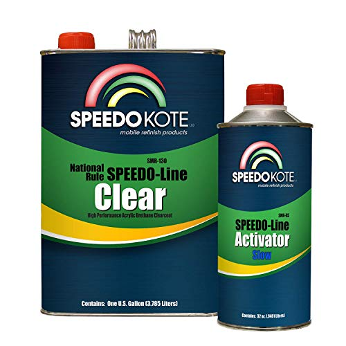 Speedokote SMR-130/85 - Automotive Clear Coat Fast Dry 2K Urethane, 4:1 Gallon Clearcoat Kit with Slow Activator (Best Automotive Clear Coat)