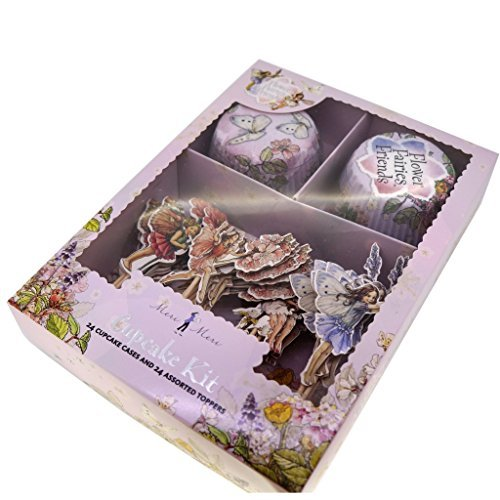 Flower Fairies Cupcake Kit - Cupcake Paper Baking Cup Liners Wrappers, Standard Size, Pack of 24 Cases and 24 Picks