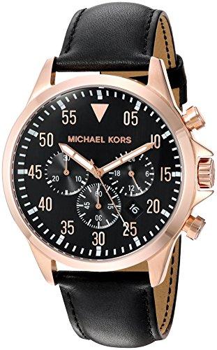 Michael Kors Men's Gage Black Watch MK8535 (Michael Kors Watch Men Leather)