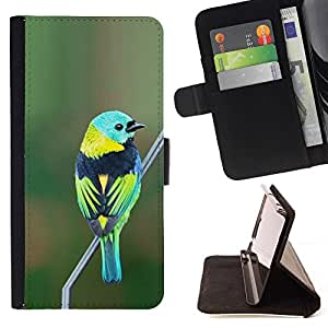 Momo Phone Case / Flip Funda de Cuero Case Cover - Green Nature Direction Teal - Huawei Ascend P8 Lite (Not for Normal P8)