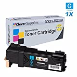Clever Supplies© Compatible Replacement Toner Cartridge Cyan for Xerox 6500 (106R01594), Phaser 6500, 6500N, 6500DN, WorkCentre 6505, 6505N, 6505DN, Cyan (Colors: 2,500) Page Yield.