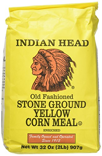 - Indian Head Old Fashioned Stone Ground Yellow Corn Meal (2 Pack) 2 Pound Bags