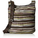 Baggallini LZP474-JS Big Zipper Crossbody Bag, Java Stripe, One Size