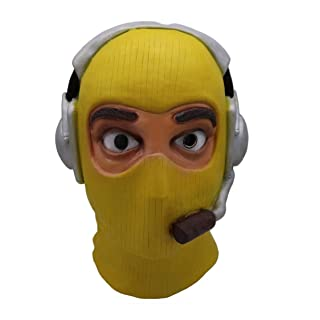 Yacn fortenite Raptor mask for adult cosplay,yellowe mask costume halloween accessory
