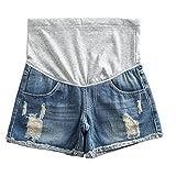 Women's Summer Adjustable Maternity Pregnant Denim Shorts Blue Tag L