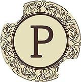 Thirstystone Monogram P Car Cup Holder Coaster, 2-Pack