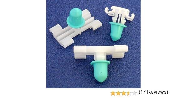 10 x E46 - Remaches Plásticos - Clips Sujeción Molduras Laterales Exteriores/ Protectores Puertas - Coche Grapas - Franqueo libre!:
