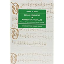 OBRAS COMPLETAS DE RODRIGO DE CEBALLOS [MUSICA IMPRESA], VOL