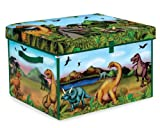 ZipBin 160 Dinosaur Collector Toy Box & Play set w/2 Dinosaurs