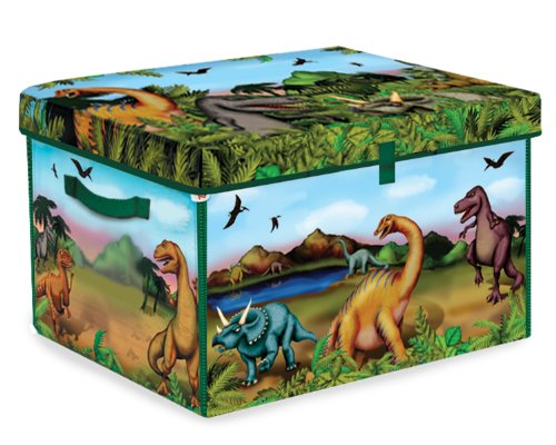 Zipbin Dinosaur Collector Toy Box and Play Set with 2 Dinosaurs
