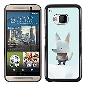 Paccase / SLIM PC / Aliminium Casa Carcasa Funda Case Cover - White Wolf Snow Cartoon Scarf Art Cute - HTC One M9