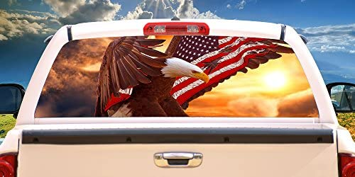 SignMission Eagle Flag Window Graphic product image