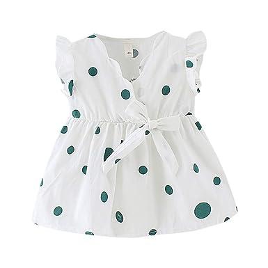 ❤️ Vestido de Princesa con Lazo sin Mangas para niñas y bebés ...