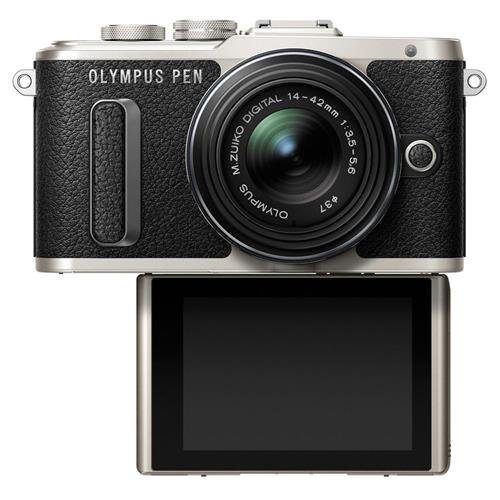 Olympus PEN E-PL8 Black Body with 14-42mm IIR Black Lens