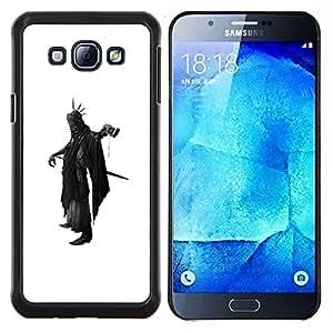 TECHCASE---Cubierta de la caja de protección para la piel dura ** Samsung Galaxy A8 ( A8000 ) ** --Muerte Apocalipsis Negro Cabo Hacha Espada Futurismo