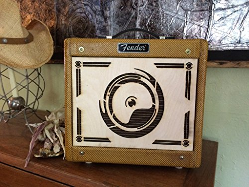AmpFacade Art Deco Speaker wood guitar amplifier decorative grill cover for Fender Tweed Champ or common 5F1 clone with 8