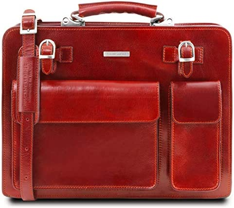 Tuscany Leather – Venezia – Leather briefcase 2 compartments – TL141268