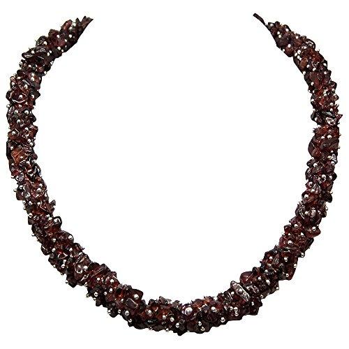Garnet Cluster Necklace (India) (36