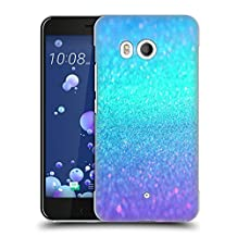 Official Haroulita Turquoise And Purple Glitter Sparkle Hard Back Case for HTC U11 / Dual