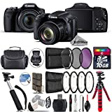 Canon PowerShot SX530 HS Digital Camera 9779B001 + Backup Battery + 16GB Class 10 Memory Card + Macro Filter Kit + UV-CPL-FLD Filters + 43'' Monopod Selfie Stick - International Version