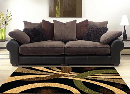 Amazon.com: MSRUGS Living Room Rug Area Rugs Clearance, 5x7, Black ...