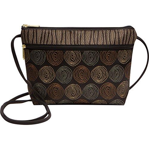 Danny K Women's Tapestry Zipper Purse Crossbody Handbag, Adjustable Cord, Handmade in USA
