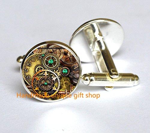 Modern Fashion Cufflink,Beautiful Cufflink , Steampunk Cufflink, Steampunk Jewelry, Gear - Glasses To Make How Steampunk