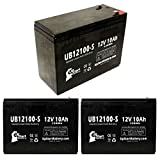 3x Pack - Neuton Mowers CE6 Battery - Replacement UB12100-S Universal Sealed Lead Acid Battery (12V, 10Ah, 10000mAh, F2 Terminal, AGM, SLA)