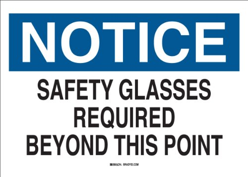 Brady 22626 Plastic Eye Protection Sign, 7
