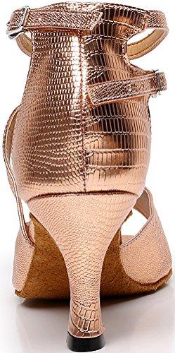 Salabobo AQQ-5009 Womens Latin Wedding Party Tango Peep Toe Customize Heel PU Dance Shoes Pink M8kQpK