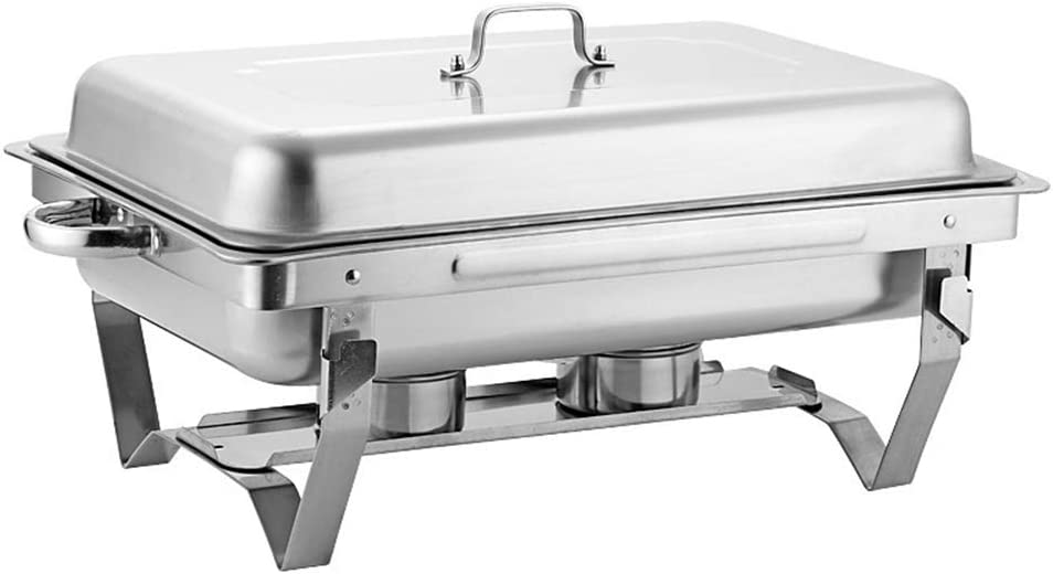 WSHA 9L Full Size Stainless Steel Chafer with Anti-scalding Handle, Chafing Dish Buffet Set, Food Warmers for Parties Buffets