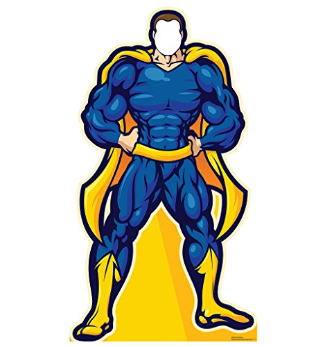 Super Hero In Blue Stand-In - Advanced Graphics Life Size Cardboard Standup by Advanced Graphics