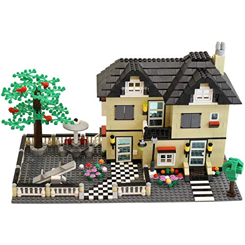 Dimple Family Cottage Themed Interconnecting Kids Building Block Set Toy (816 Pieces) with Yard, Garden, Figurines and Other Fun Assorted Pieces