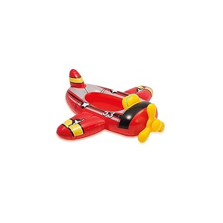 INTEX 59380NP Kinder Schlauchboot Pool aufblasbares Boot Badespaß Reittier , Variante:rot_Flugzeug