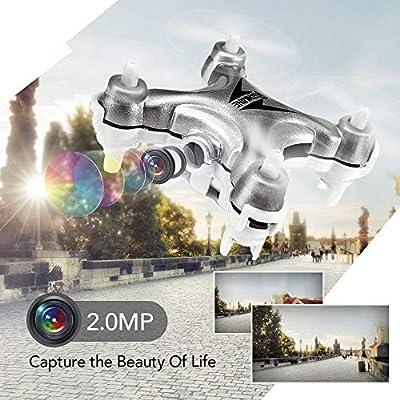 Mini Drone with Camera Live Video, EACHINE E10W WiFi FPV Mini Quadcopter with HD Camera Selfie Pocked Drone RTF - 3D Flip, APP Control, Headless Mode, One-Key Return, LED Lights (E10C)