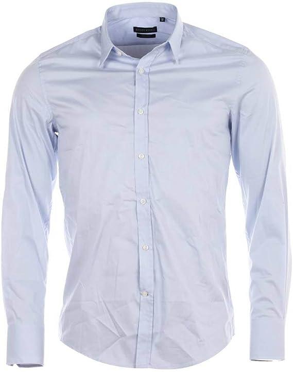 Antony Morato Basic Long Sleeve Slim Shirt White: Amazon.es ...