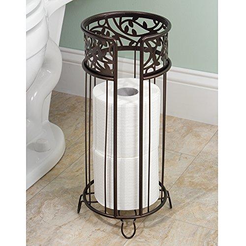 Interdesign vine free standing toilet paper holder spare import it all - Interdesign toilet paper holder ...
