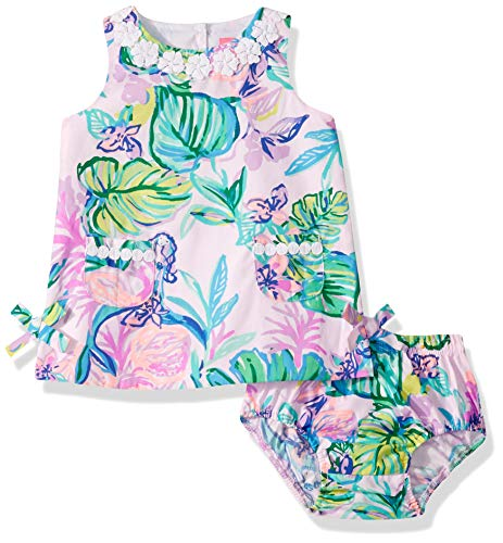 Lilly Pulitzer Girls Baby Lilly Shift, Amethyst Tint Mermaid in The Shade, 36