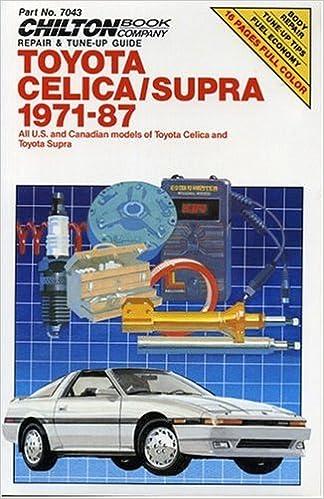 Toyota celica and supra 1971 87 chiltons repair manual chilton toyota celica and supra 1971 87 chiltons repair manual chilton 9780801977633 amazon books fandeluxe Choice Image