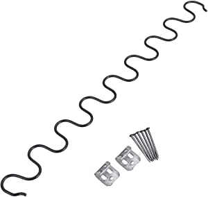 Garneck Sofa Spring Repair Kit,Clips Screws Sofa Spring Replacement with Screws with Clips, S Shape Sofa Repair Kit, Repair Spring Wire for Sofa Seat Chair