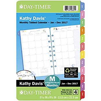Amazon.Com : Day-Timer Planner Refill 2017, 2 Page Per Day, 5-1/2