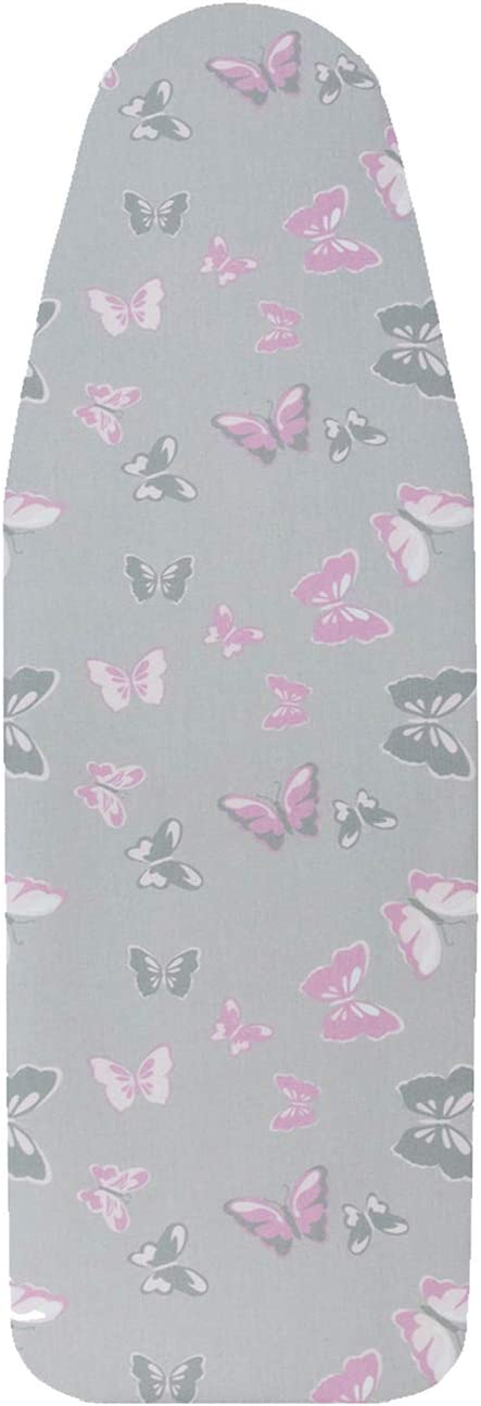 """VieveMar Premium Ironing Board Cover, Thick Padding with Cotton, Foam and Felt Pad, Easy FIT with Drawstring, Heat Reflective. Fits Boards 15"""" x 54"""" (Butterflies)"""