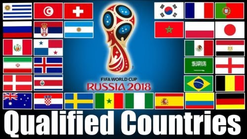 Moon 12x18 Wholesale Lot 2018 Qualified Countries World Cup