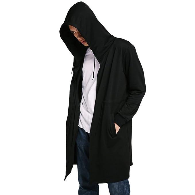 Fedi Apparel Mens Winter Warm Cloak Hooded Sweatshirt Jumper Coat