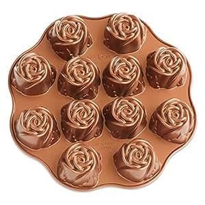 Amazon Com Nordic Ware Nonstick Sweetheart Rose Baking