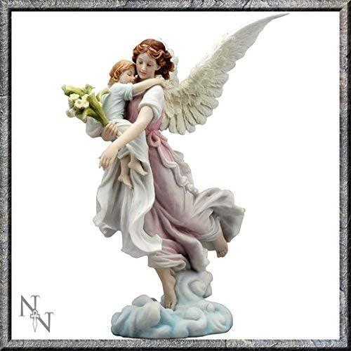 Figura ángel de la guarda porcelana