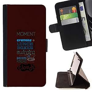 Momo Phone Case / Flip Funda de Cuero Case Cover - RESUMEN TIPOGRAFÍA - Samsung Galaxy S6 Edge Plus / S6 Edge+ G928