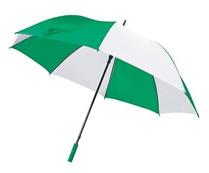 ENT Paraguas de Golf Verde Blanco automático - Art. EL21032 - LON. 127 cm