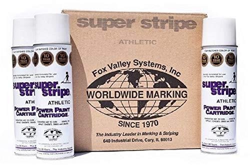 Fox Valley Athletic White 18oz Paint Cartridge (Case/12 Cans) Athletic Field Marking Spray Paint
