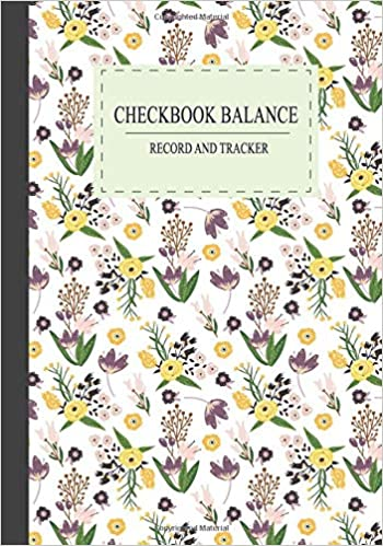 buy checkbook balance record and tracker 7 x 10 check and debit